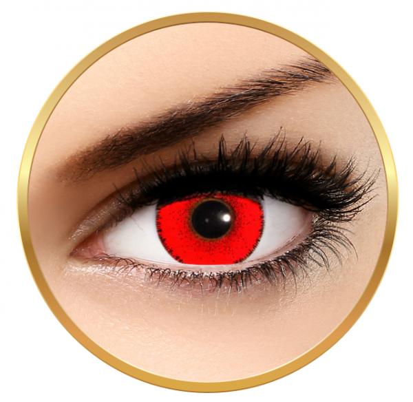 Solotica Solflex Colors Hype Vermelha Red - Red contact Lenses monthly - 30 wears (2 lenses/box)