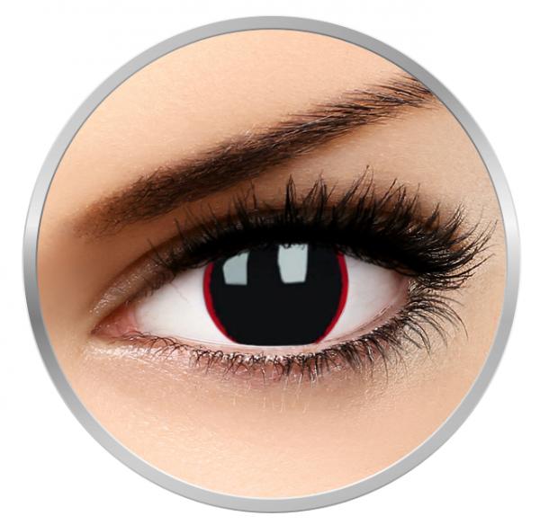 ColourVUE Crazy Hellraiser - Black Contact Lenses yearly - 360 wears (2 lenses/box)