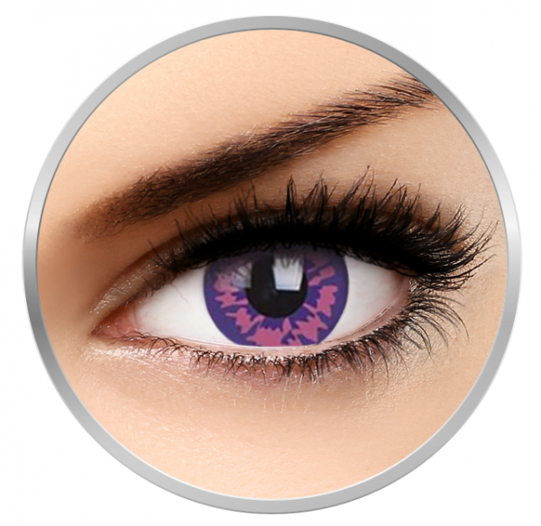 Phantasee Fancy Temptress - Purple Contact Lenses yearly - 360 wears (2 lenses/box)