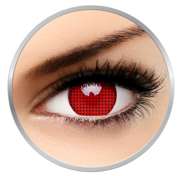 ColourVUE Crazy Red Screen - Red Contact Lenses yearly - 360 wears (2 lenses/box)