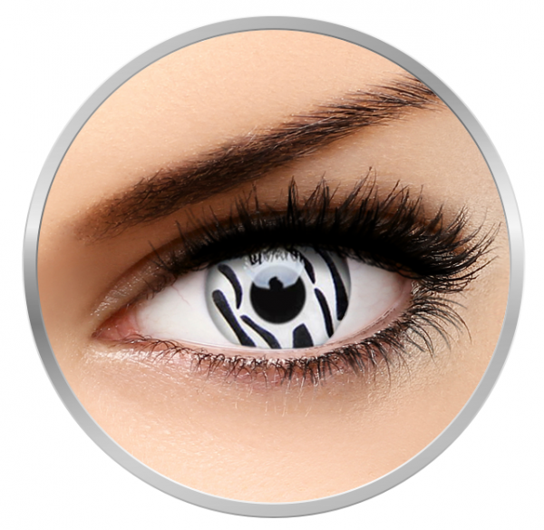 ColourVUE Crazy Zebra - White Contact Lenses yearly - 360 wears (2 lenses/box)
