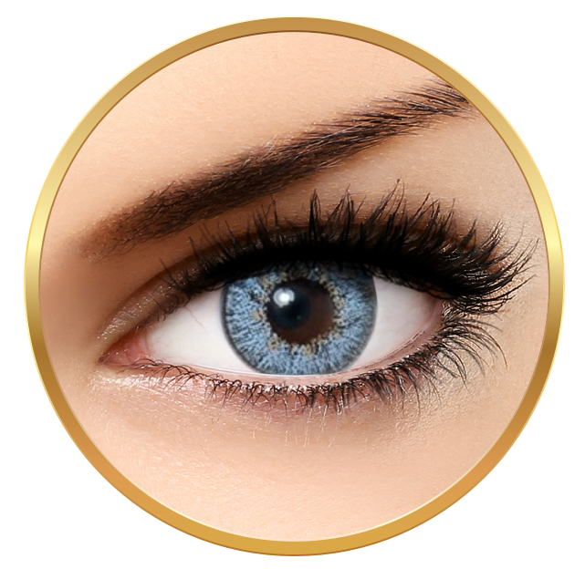 Bella Natural Looking Lenses Gray Blue - Gray Blue Contact Lenses Quarterly - 90 wears (2 lenses/box)