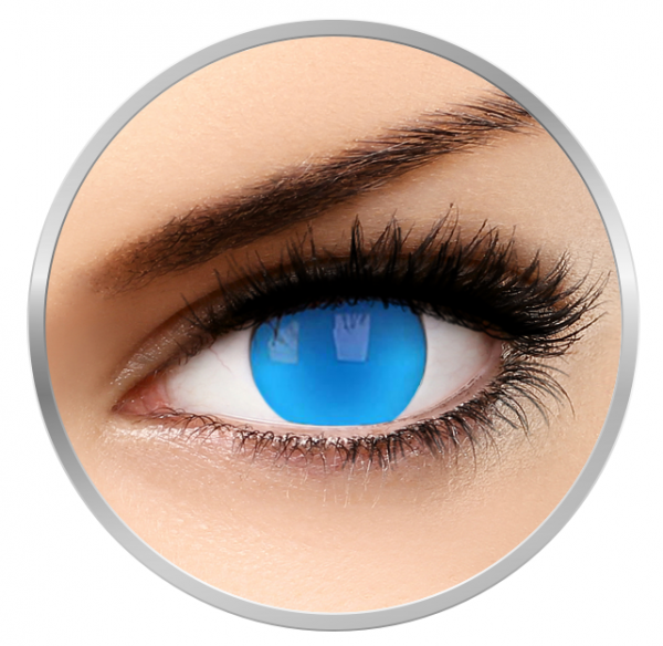 ColourVUE Glow Electric Blue - Blue Contact Lenses yearly - 360 wears (2 lenses/box)
