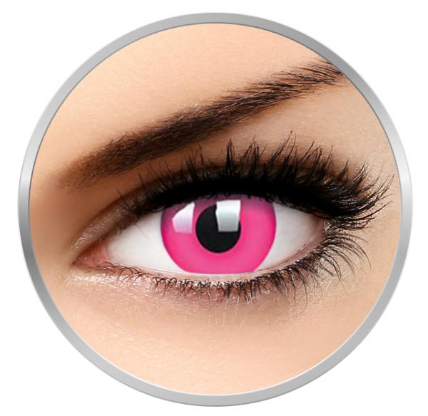 Phantasee Fancy UV Pink - Pink Contact Lenses yearly - 360 wears (2 lenses/box)