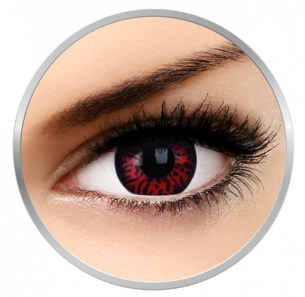 Phantasee Fancy Thunderbolts - Red/Black Contact Lenses yearly - 365 wears (2 lenses/box)