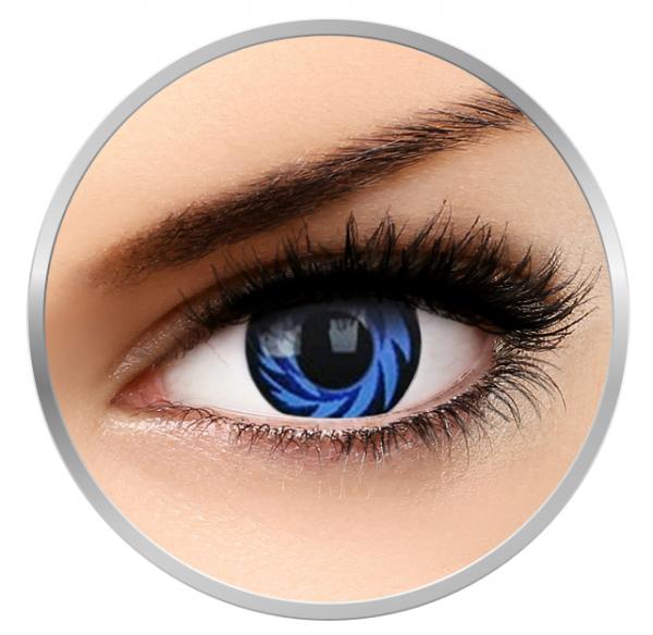 Phantasee Fancy Blue Tornado - Blue/Black Contact Lenses yearly - 360 wears (2 lenses/box)