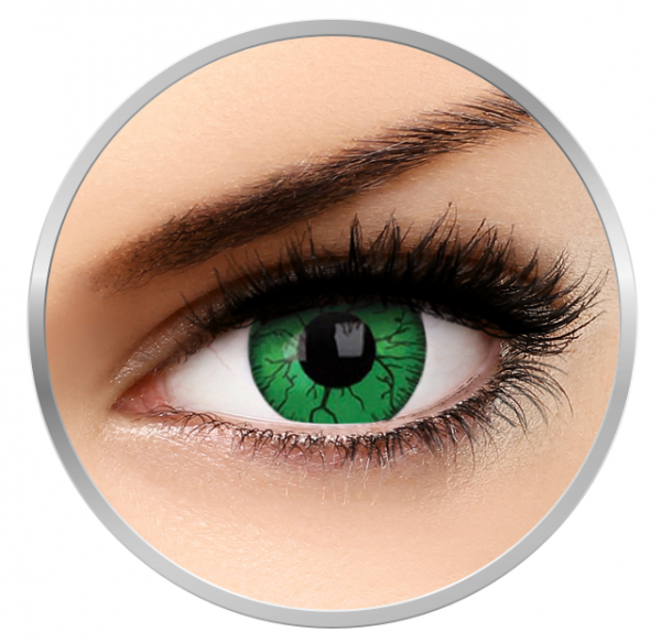Phantasee Fancy Green Hornet - Green Contact Lenses yearly - 360 wears (2 lenses/box)