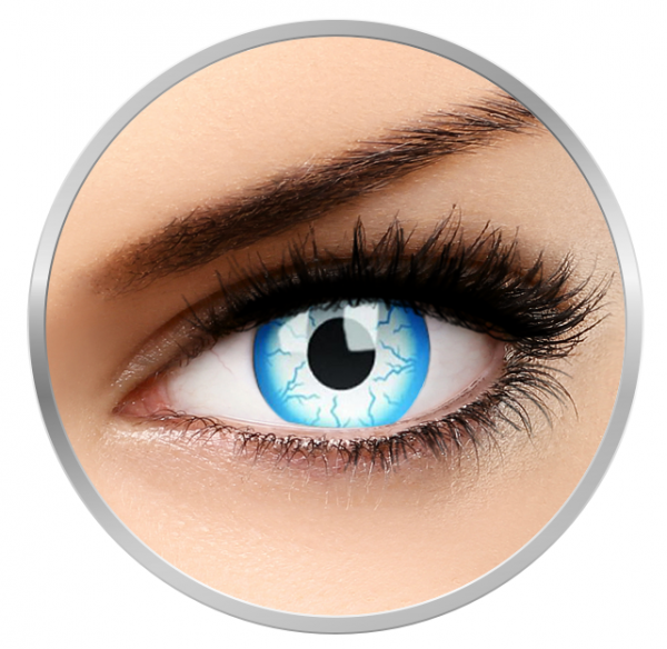 ColourVUE Crazy Lightening - White Contact Lenses yearly - 360 wears (2 lenses/box)