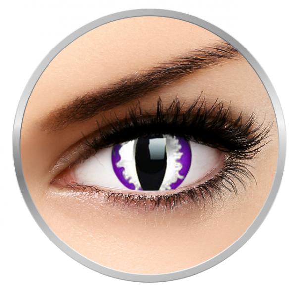 ColourVUE Crazy Purple Dragon - Violet Contact Lenses yearly - 360 wears (2 lenses/box)