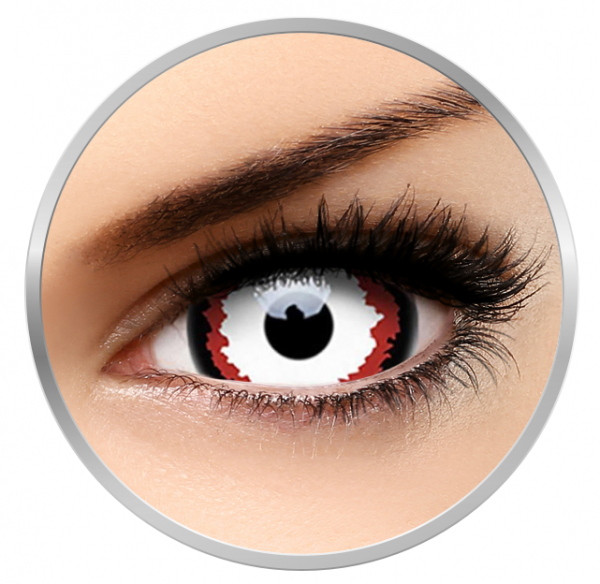 Phantasee Fancy Minotaur - White Contact Lenses yearly - 360 wears (2 lenses/box)