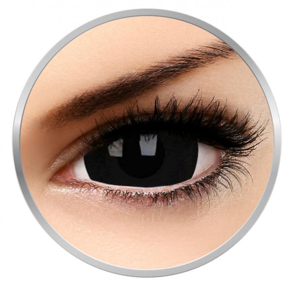 ColourVUE Crazy Black Titan - Black Contact Lenses yearly - 360 wears (2 lenses/box)