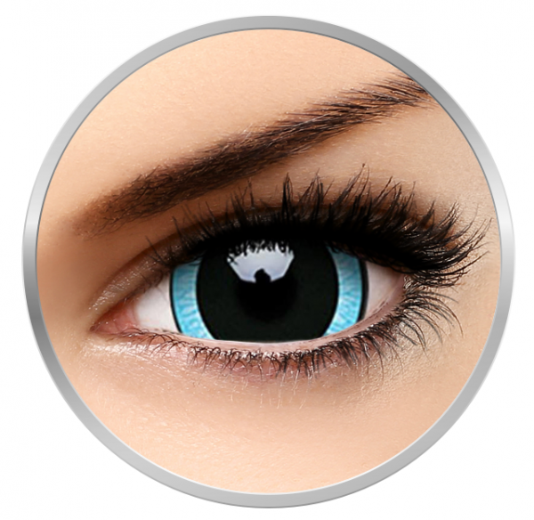 Phantasee Fancy Nebulos - Blue/Black Contact Lenses yearly - 360 wears (2 lenses/box)