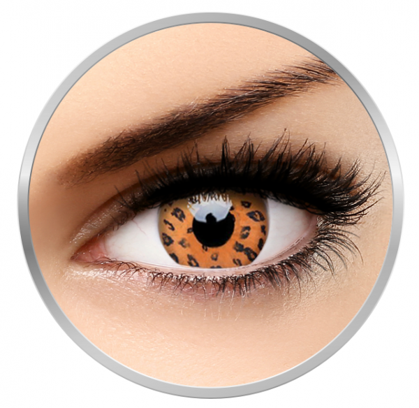 ColourVUE Crazy Yellow Leopard - Yellow Contact Lenses yearly - 360 wears (2 lenses/box)