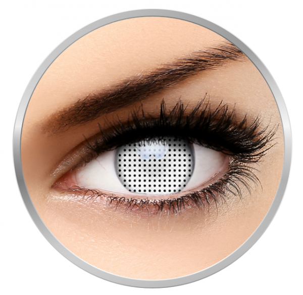 ColourVUE Crazy White Screen - White Contact Lenses yearly - 360 wears (2 lenses/box)