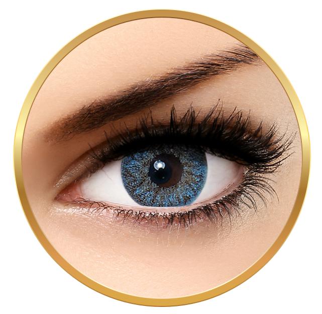 Bella Natural Looking Lenses Blue - Blue Contact Lenses Quarterly - 90 wears (2 lenses/box)