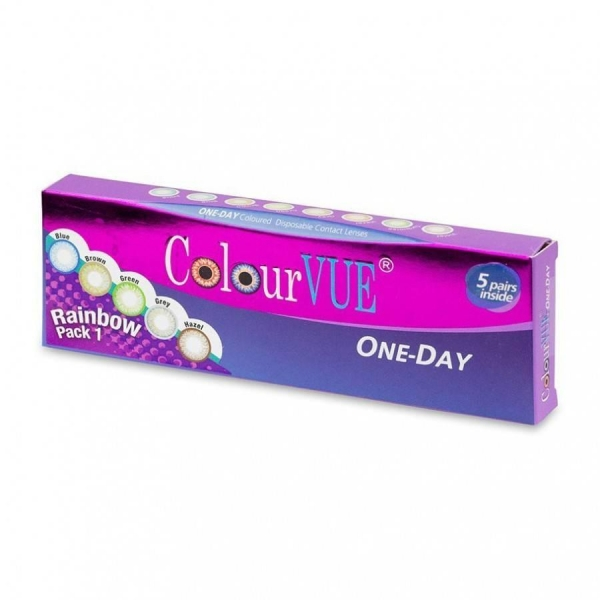 ColourVue Rainbow Pack 1 - Multicolored Contact Lenses daily - 5 wears (10 lenses/box)