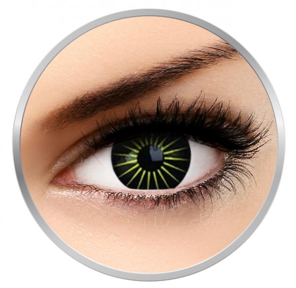 Phantasee Fancy Blastar - Green/Black Contact Lenses yearly - 360 wears (2 lenses/box)