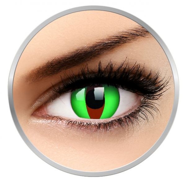 ColourVUE Crazy Raptor - Green Contact Lenses yearly - 360 wears (2 lenses/box)