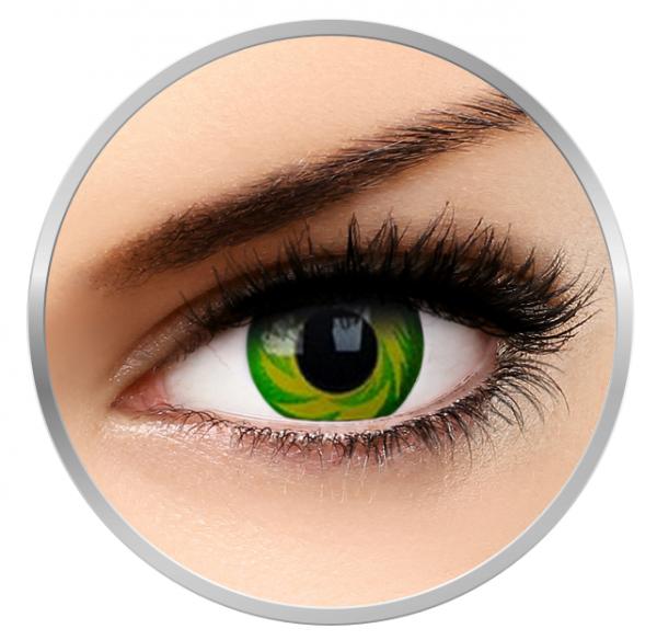 Phantasee Fancy Green Tornado - Green Contact Lenses yearly - 360 wears (2 lenses/box)
