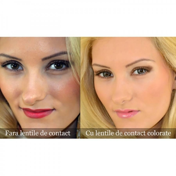 ColourVUE Eyelush Grey – Grey Contact Lenses quarterly - 90 wears (2 lenses/box)