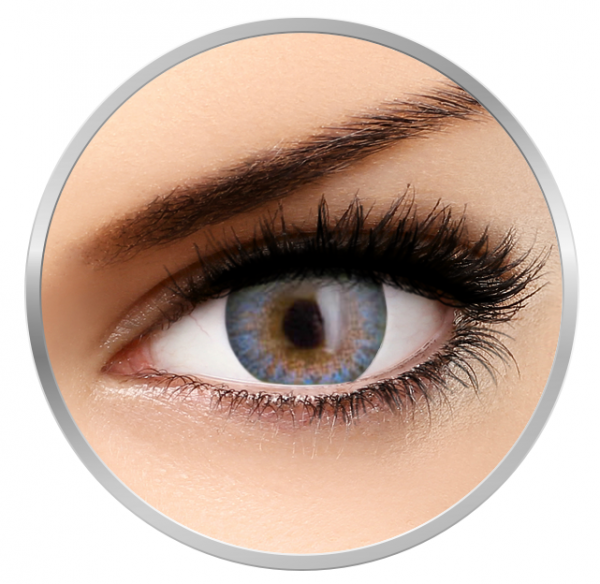 Phantasee Natural Monthly Airy Blue - Blue Contact Lenses monthly - 30 wears (2 lenses/box)