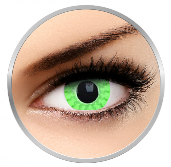 Phantasee Fancy Green Mist - Green Contact Lenses yearly - 360 wears (2 lenses/box)