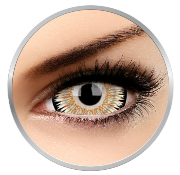 Phantasee Fancy Orbitron - Yellow Contact Lenses yearly - 360 wears (2 lenses/box)