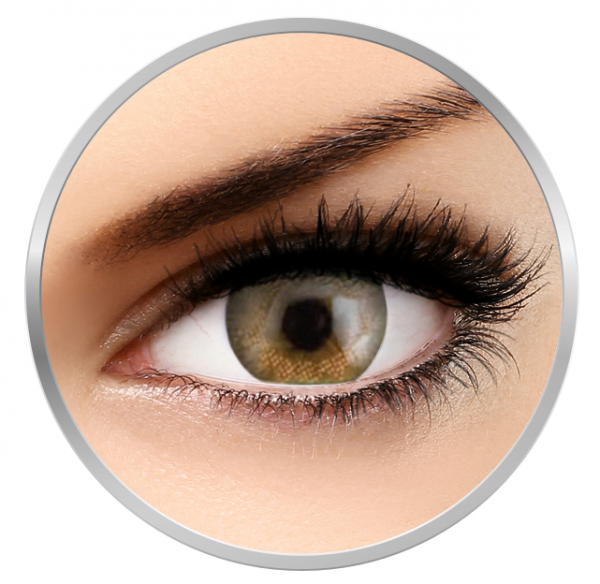 Phantasee Natural Monthly Pumpkin Brown - Brown Contact Lenses monthly - 30 wears (2 lenses/box)