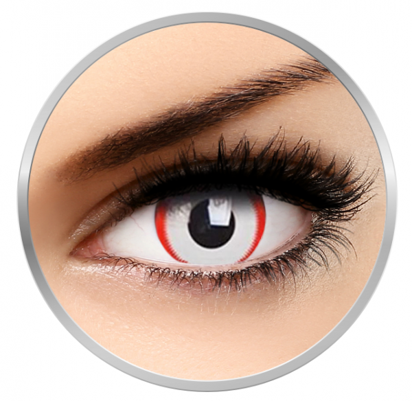Phantasee Fancy Saw - White/Red Contact Lenses yearly - 360 wears (2 lenses/box)