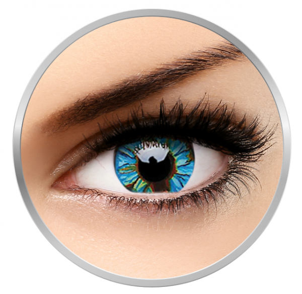 MaxVue Vision Fancy Blue Streak - Green/Blue Contact Lenses yearly - 360 wears (2 lenses/box)