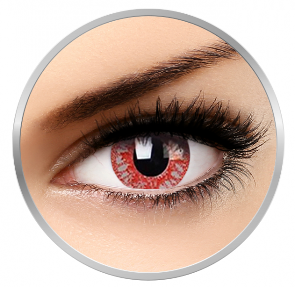 Phantasee Fancy Rage - Red Contact Lenses yearly - 360 wears (2 lenses/box)