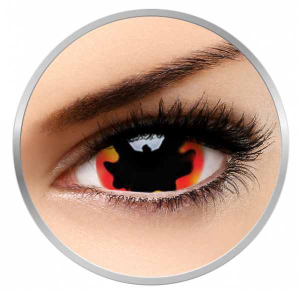 MaxVue Vision Fancy Blackhole Sun - Red Contact Lenses yearly - 360 wears (2 lenses/box)