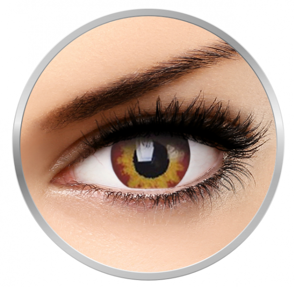Phantasee Fancy Volcano - Yellow/Brown Contact Lenses yearly - 360 wears (2 lenses/box)
