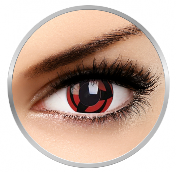 ColourVUE Crazy Kakashi - Red Contact Lenses yearly - 360 wears (2 lenses/box)