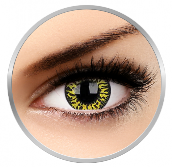 Phantasee Fancy Yellow Eclipse - Yellow/Black Contact Lenses yearly - 360 wears (2 lenses/box)