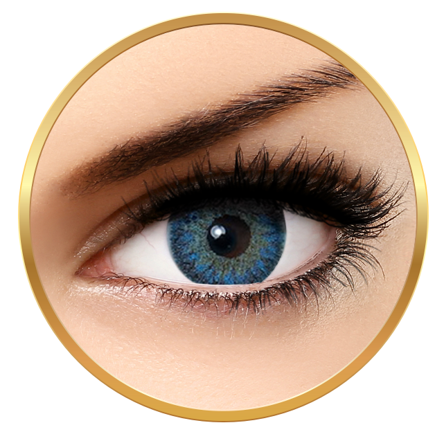 Bella Natural Looking Lenses Cool Blue - Blue Contact Lenses Quarterly - 90 wears (2 lenses/box)