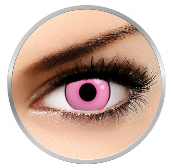 ColourVUE Crazy Hot Pink - Pink Contact Lenses yearly- 360 wears (2 lenses/box)