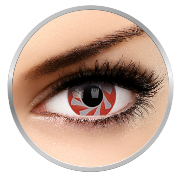 Phantasee Fancy Red Spin - Red Contact Lenses yearly - 360 wears (2 lenses/box)