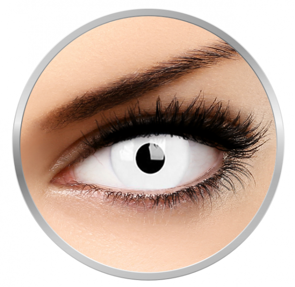 ColourVUE Glow White - White Contact Lenses yearly - 360 wears (2 lenses/box)