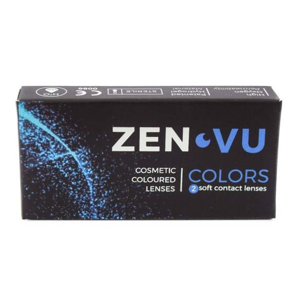 ZenVu Perfect Black - Black Contact Lenses quarterly - 90 wears (2 lenses / box)