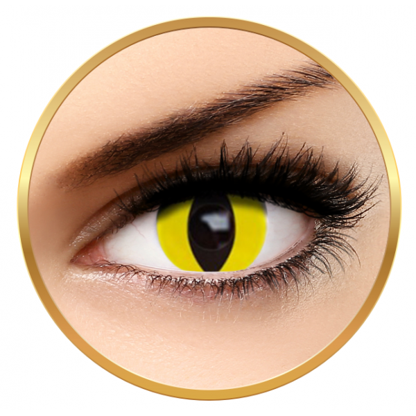 Auva Vision Fantaisie Yellow Cat - yearly Halloween contact lenses - 365 wears (2 lenses / box)