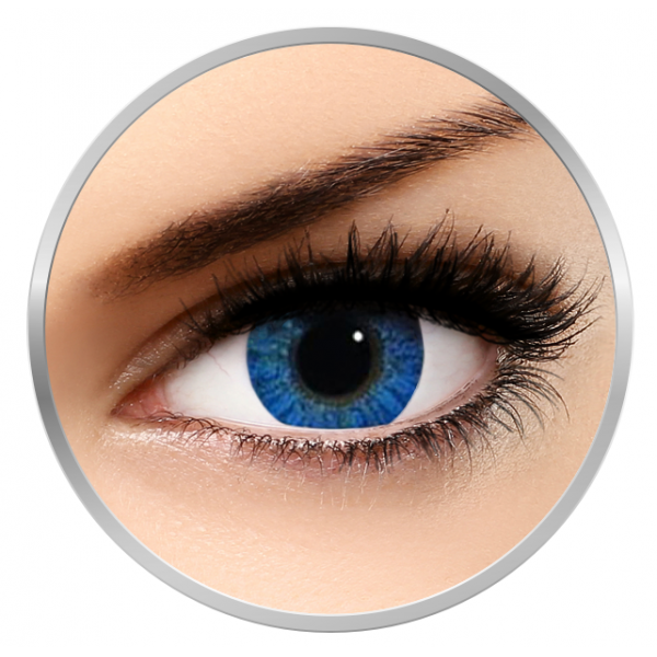 Alcon / Ciba Vision Freshlook Colorblends Brilliant Blue - monthly blue colored contact lenses - 30 wears (2 lenses / box)