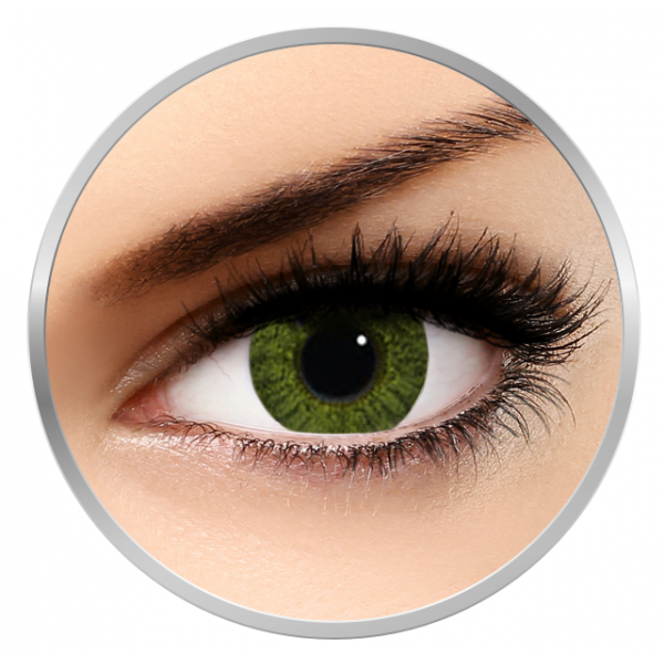 Alcon / Ciba Vision Freshlook Colorblends Gemstone Green - monthly green colored contact lenses - 30 wears (2 lenses / box)