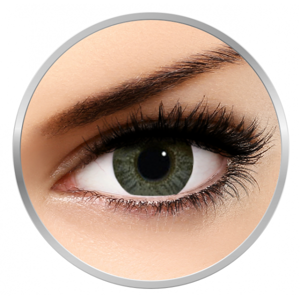 Alcon / Ciba Vision Freshlook Colors Green - monthly green colored contact lenses - 30 wears (2 lenses / box)