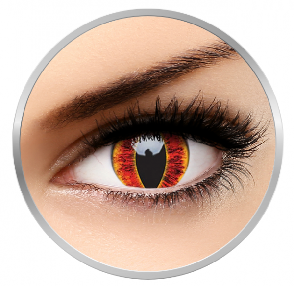 ColourVUE Crazy Sauron's Eye - Red Contact Lenses yearly - 360 wears (2 lenses/box)