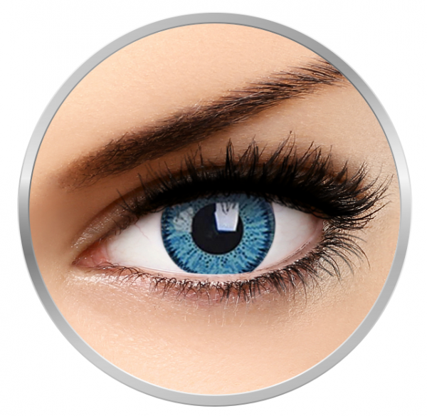 Phantasee Vivid Blue - Blue Contact Lenses quarterly - 90 wears (2 lenses/box)