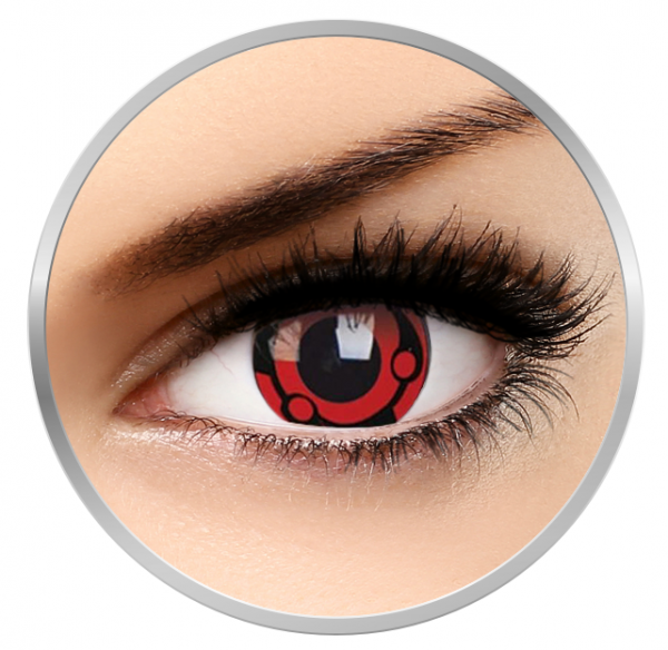 ColourVUE Crazy Madara - Red Contact Lenses yearly - 360 wears (2 lenses/box)