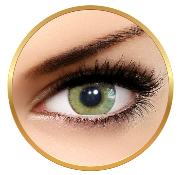 Solotica Natural Colors Mel - Green Contact Lenses yearly - 365 wears (2 lenses/box)