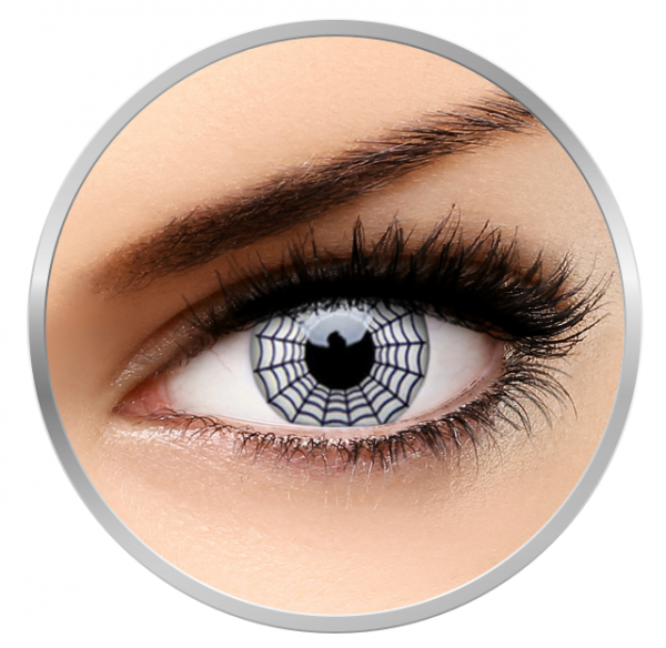 ColourVUE Crazy Spider - White Contact Lenses yearly- 360 wears (2 lenses/box)