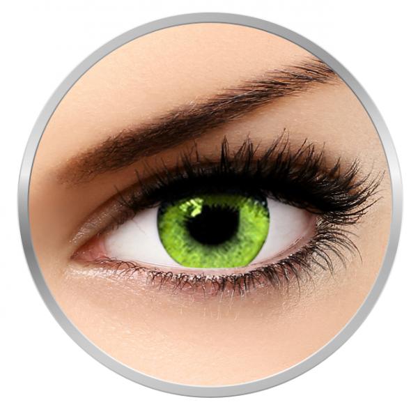 Soleko Queen's Solitaire Yellow - Green - Yellow Contact Lenses quarterly - 90 wears (2 lenses/box)
